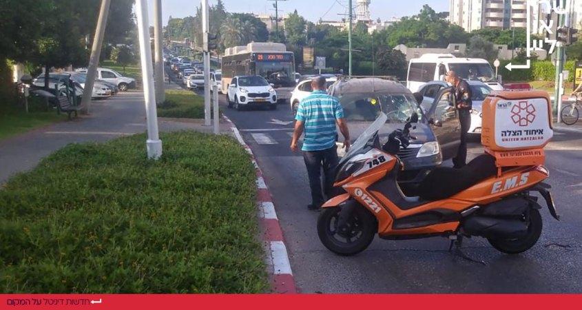 תאונת דרכים ברחוב הבריגדה היהודית הרצליה