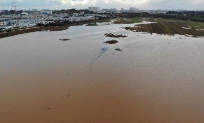 הצפת גשמים בשטח בגלילות רמת השרון המיועד לבניה