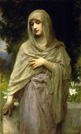 Modestie by Bouguereau