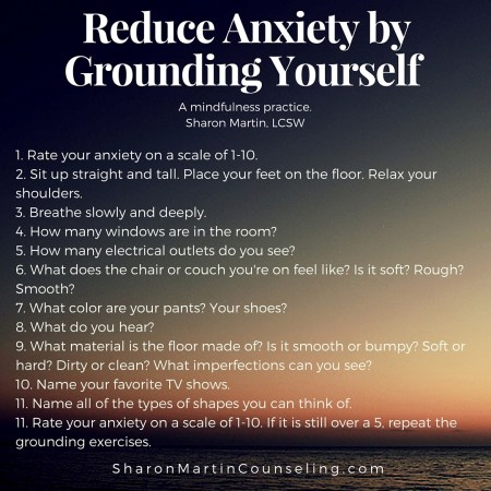 Grounding A Strategy to Reduce Anxiety, improving mental health and wellness
