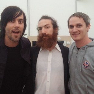 Matt, Jeff w/ guy from Death Cab for Cutie