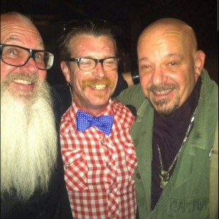Taken a few months earlier - Dave Catching, Jesse Hughes and Chris Goss