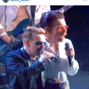 Jesse and Bono - in Paris one month after