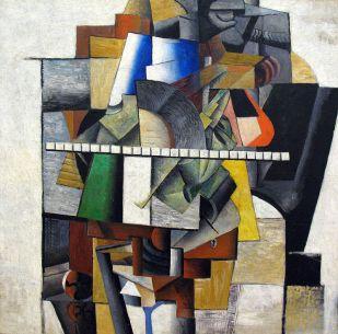 Malevich Portrait of Mikhail Matjuschin, 1913