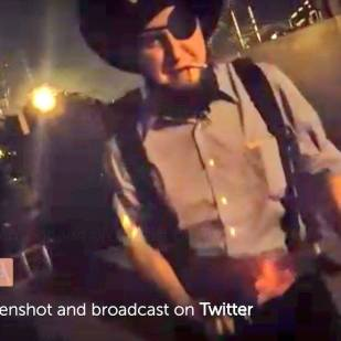 This is the Amish Pirate, I have a funny PEriscope with this guy, see link above
