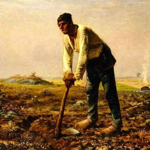 Jean-Francois Millet, Man with a Hoe