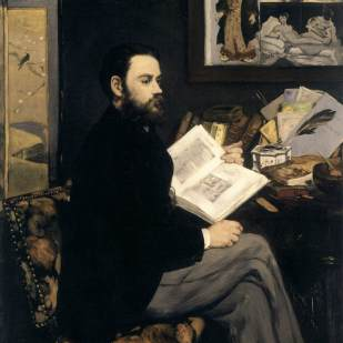 Portrait of Émile Zola by Manet, 1868