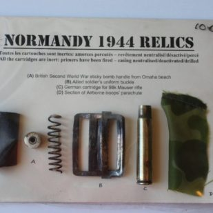 relics found on Omaha Beach