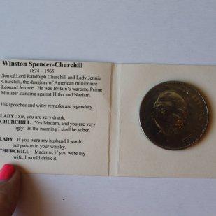 Churchhill Coin, 1965, Brocante de Jolies Choses