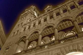 Main Street Station at night