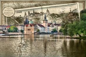 Bohemia Moravia Prague Travel Map by Sharon Popek