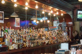 The Bourbon Bar - all of those bottles are bourbon