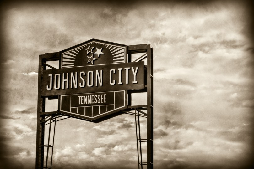 Johnson City Tennessee Sign by Sharon Popek