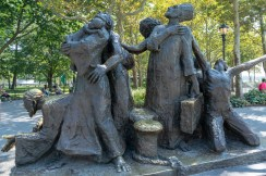 A monument to refugees in Battery Park