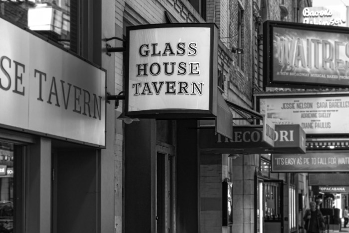 Glass House Tavern sign by Sharon Popek