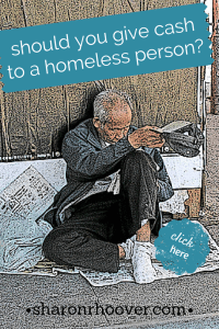 should you givecash to a homeless