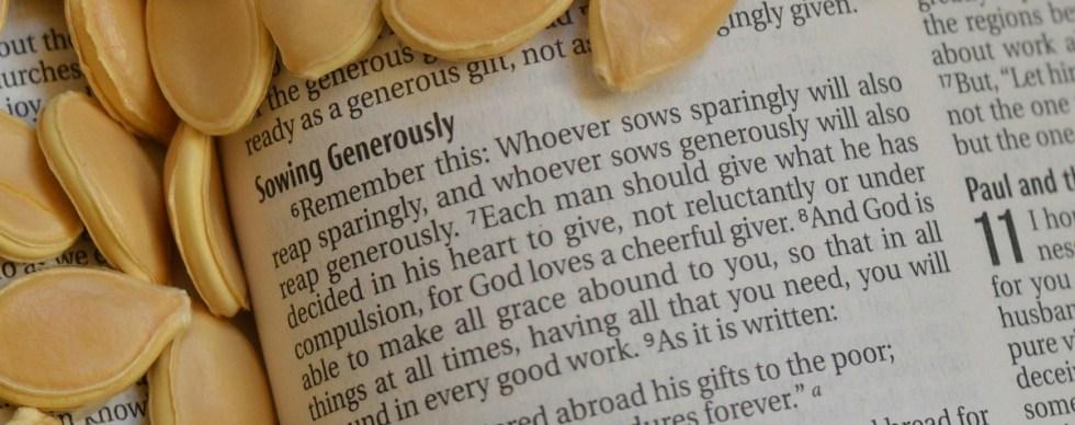 Generosity flows out of faith