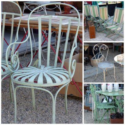 brocante chairs at a fair