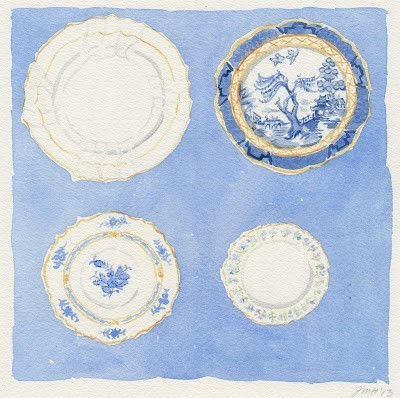 Blue and white china WB