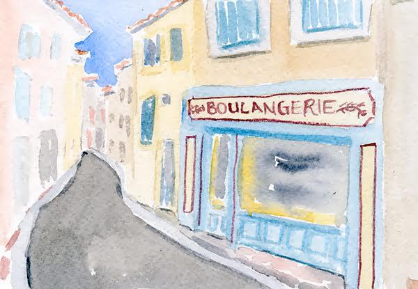 watercolour boulangerie