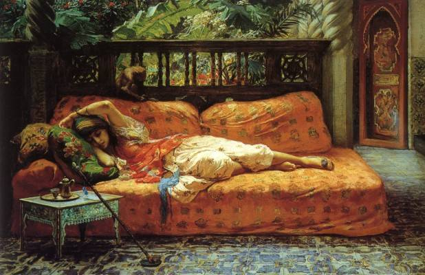 woman sleeping on daybed