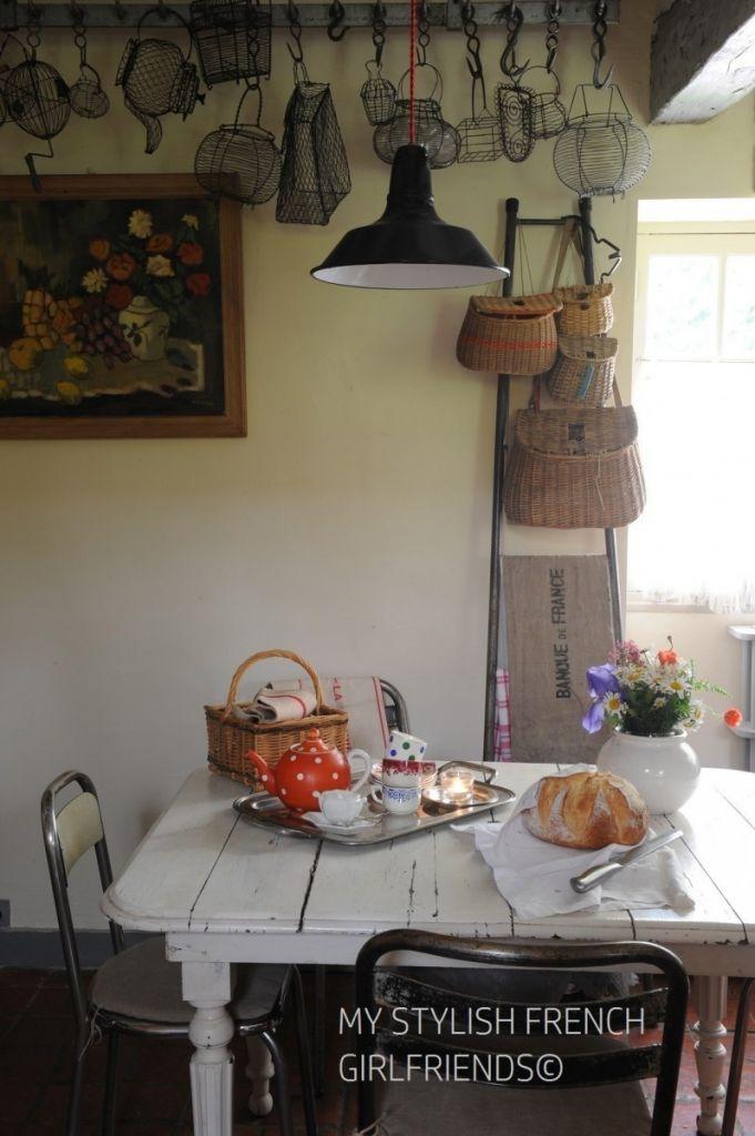 kitchen with artwork