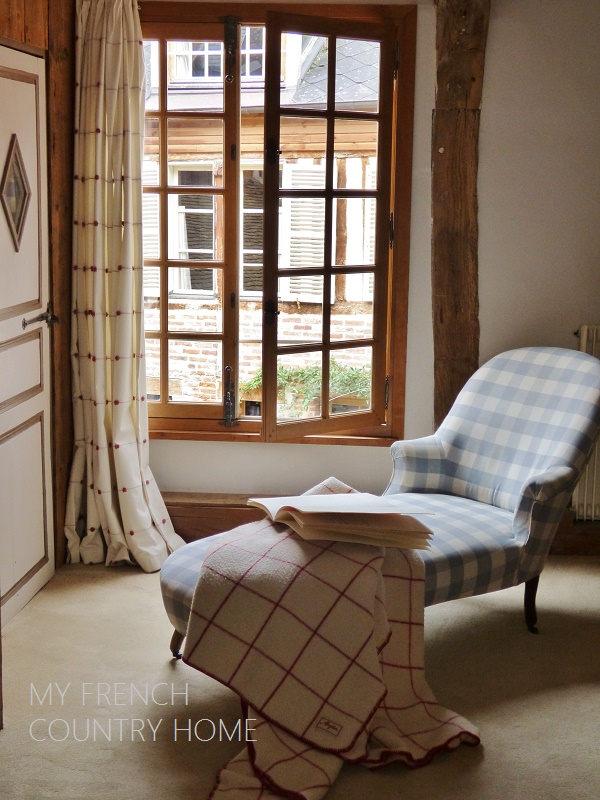 daybed in front of a window