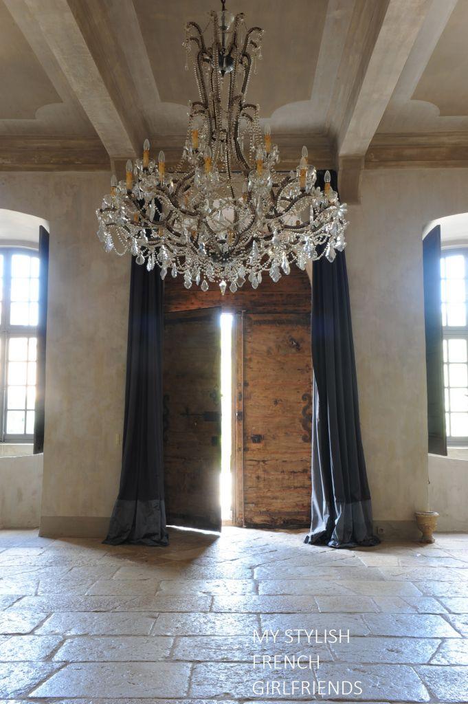 chateau door left ajar