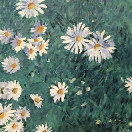 detail of flower painting