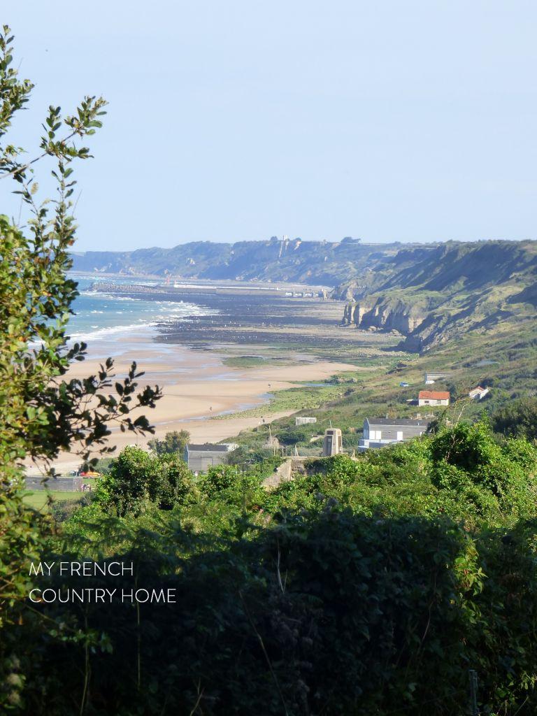 normandy coastline view