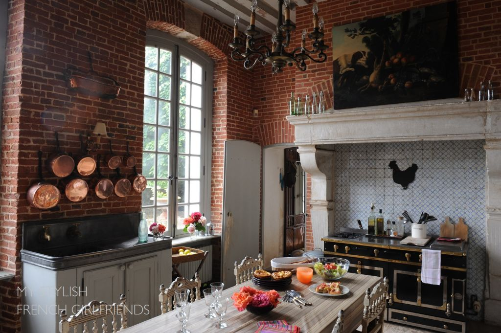 chateau kitchen with dining table