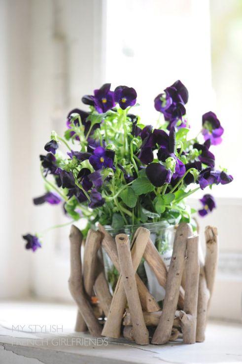 panises in a vase