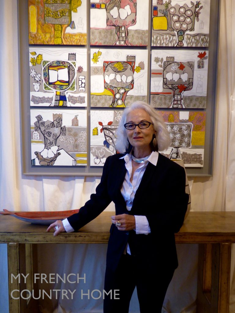 marie laure daveau queysanne at her gallery in paris