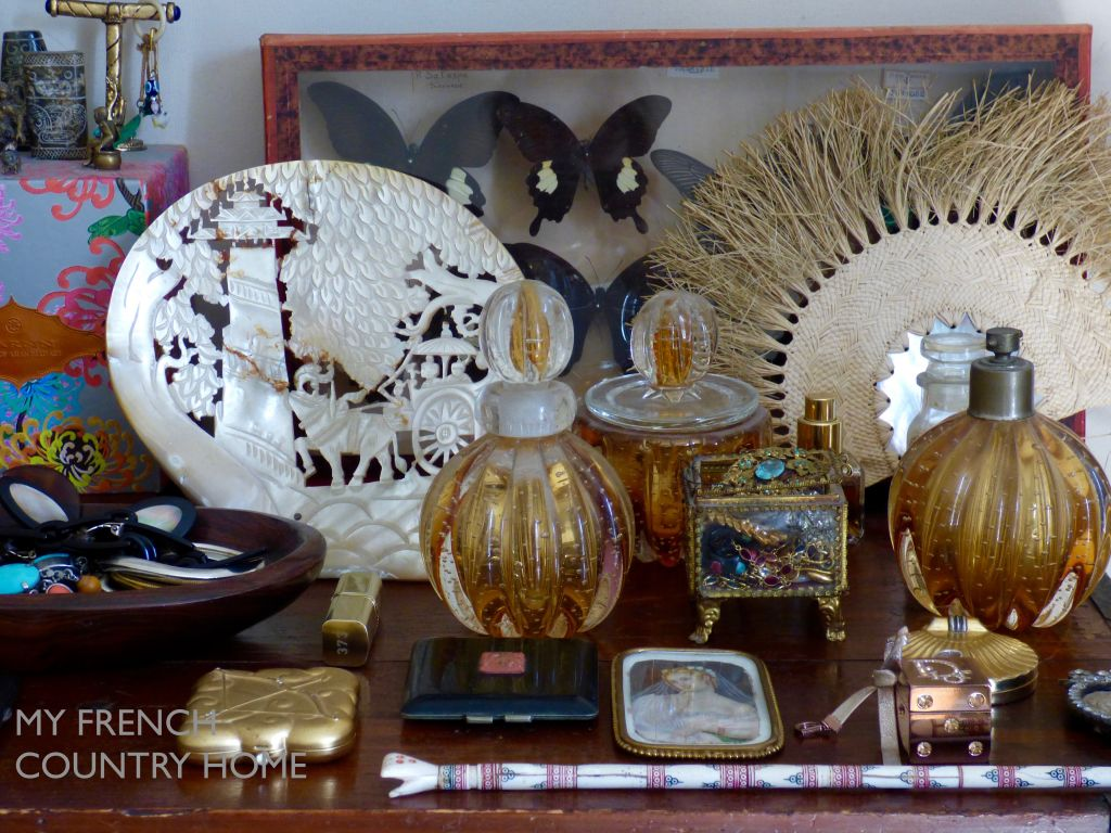 detail from dressing table