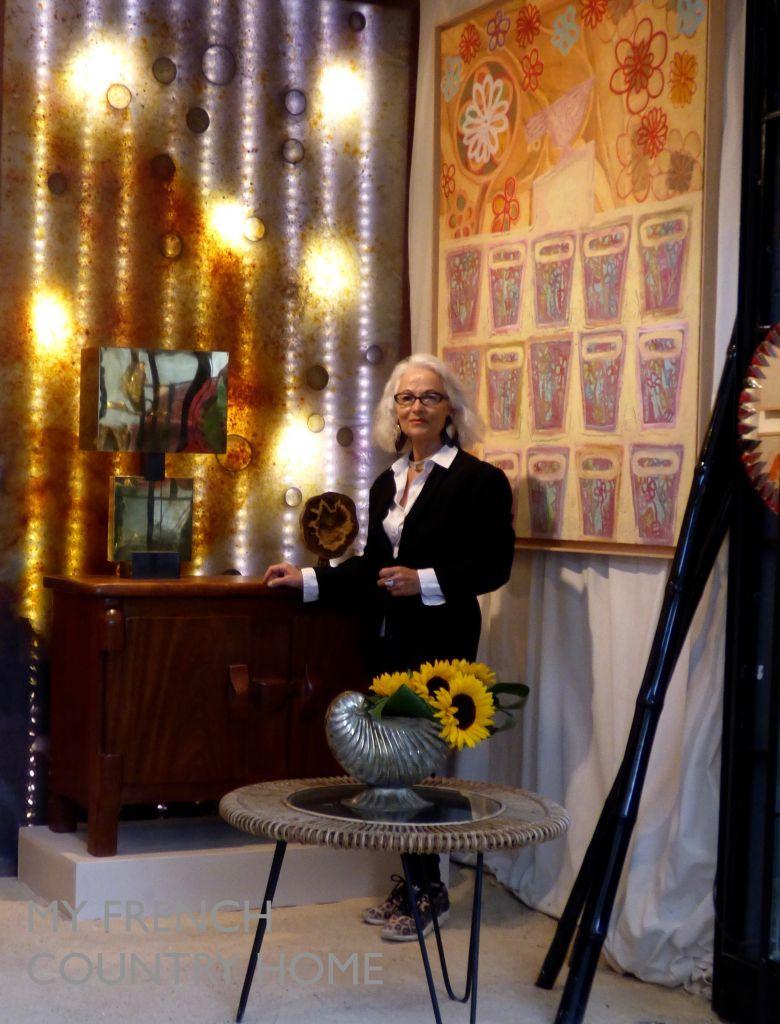 marie laure daveau queysanne in her gallery