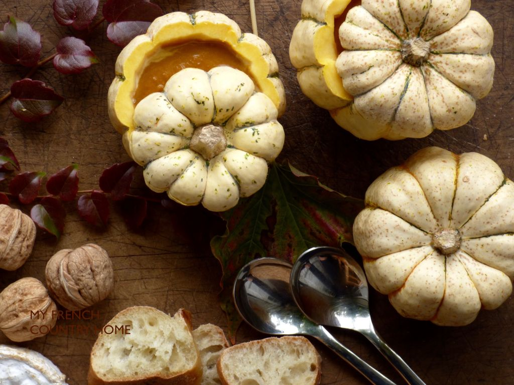 pumpkin soup in pumpkin