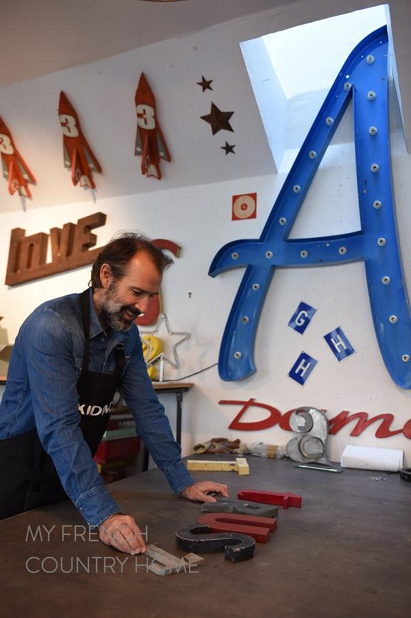 vintage letters at kidimo paris
