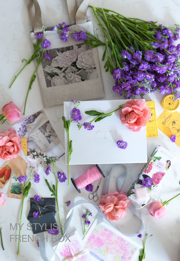 contents of the May edition of My Stylish French Box by Sharon Santoni
