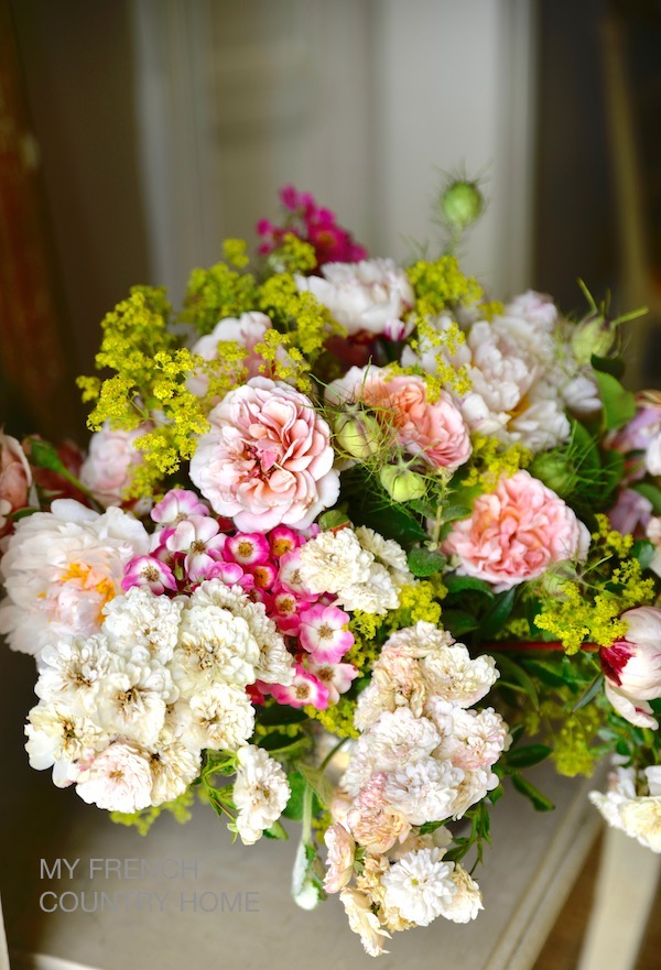 bouquet of roses from the garden - my french country home