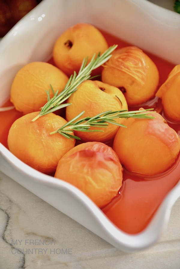 peaches with rosemary and white wine