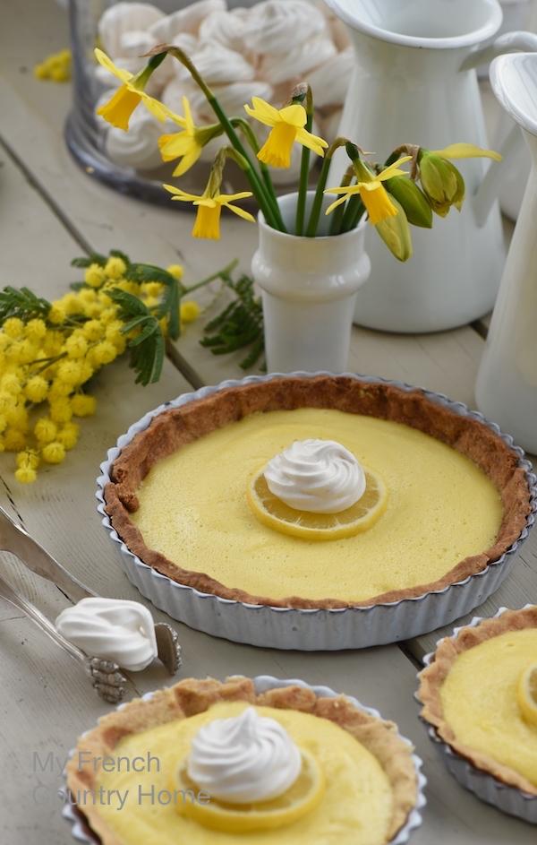 lemon tart and mimosa to brighten up the winter