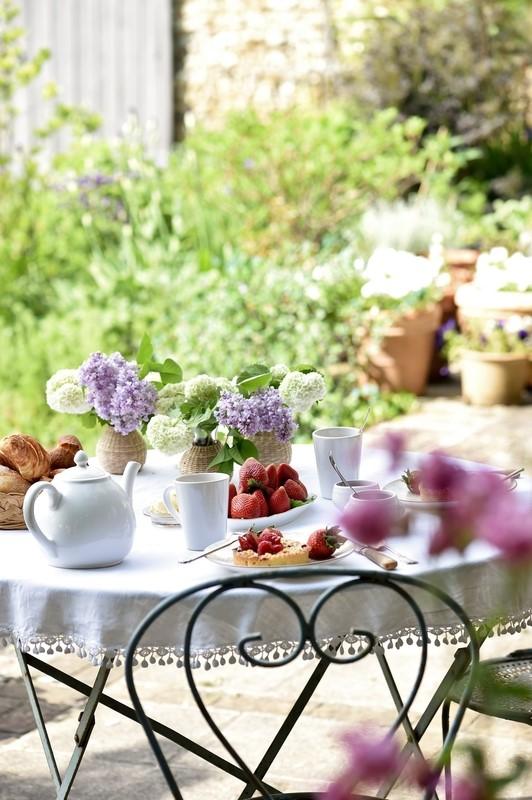 breakfast on table outside