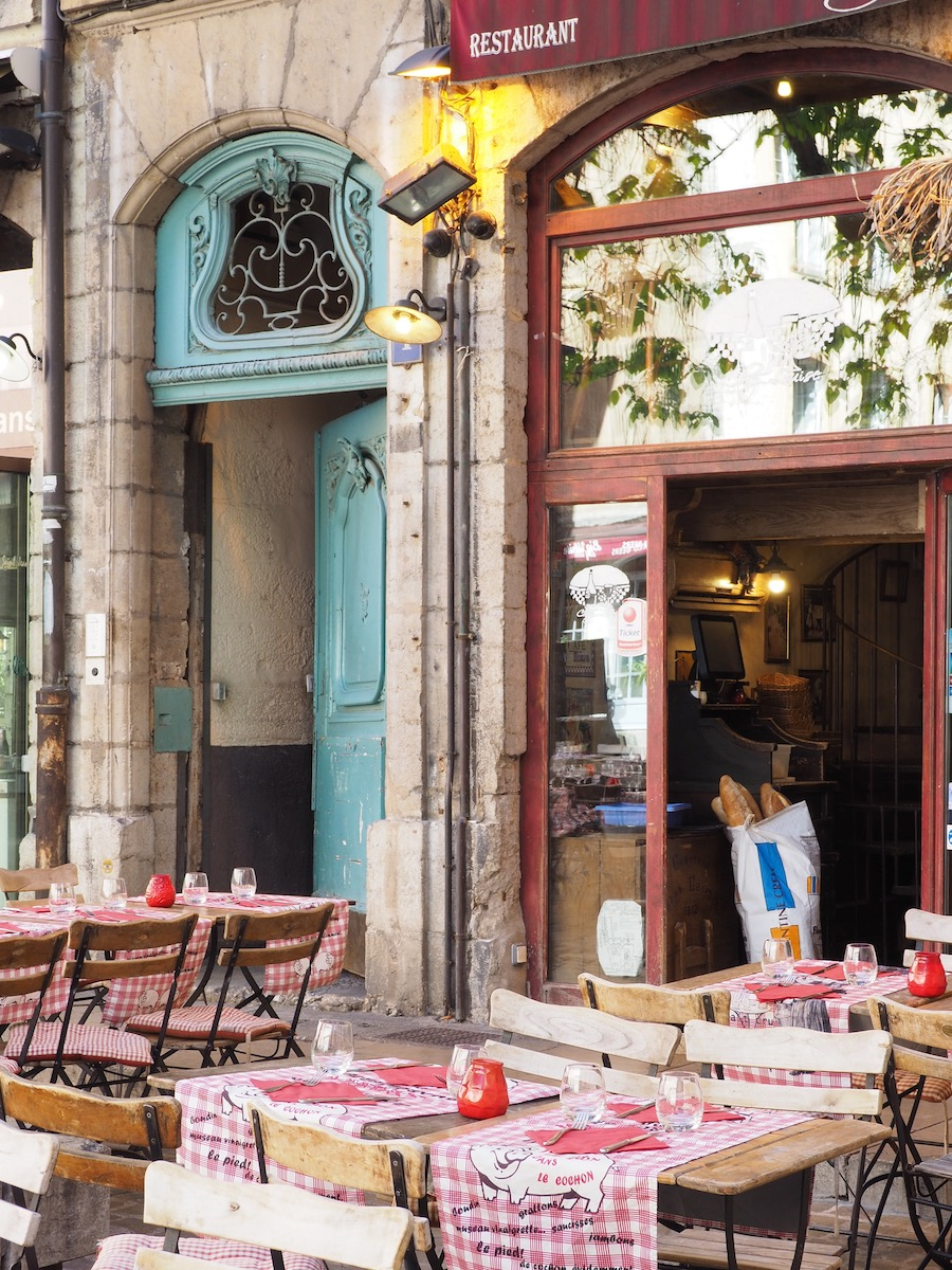 visiting lyon My French Country Home Restaurant terrace in Lyon