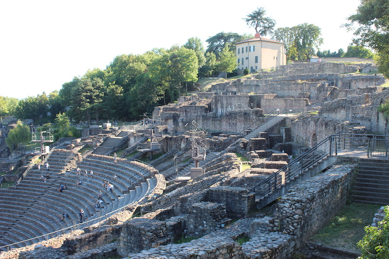 visiting lyon My French Country Home Roman Ruins
