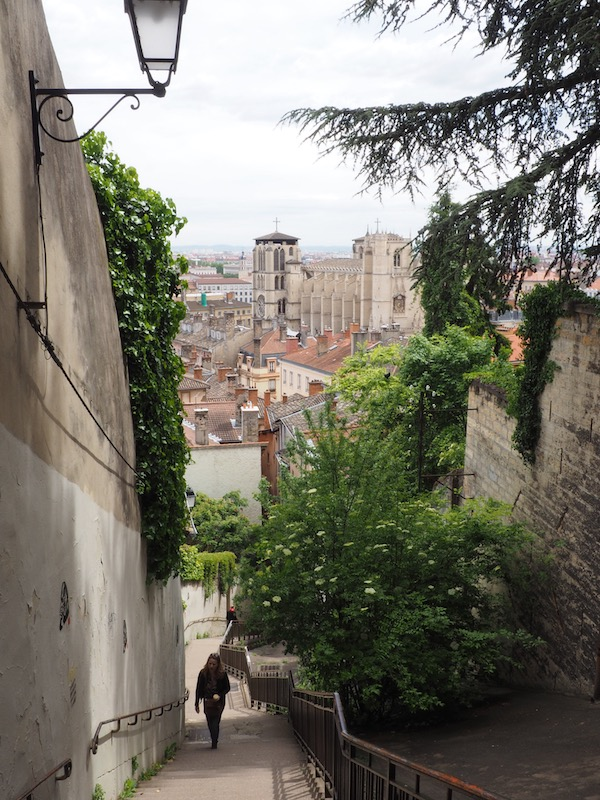 visiting lyon My French Country Home long staircase to the Basilica