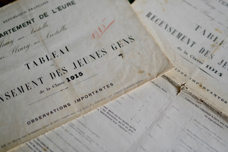 french conscription register WW1