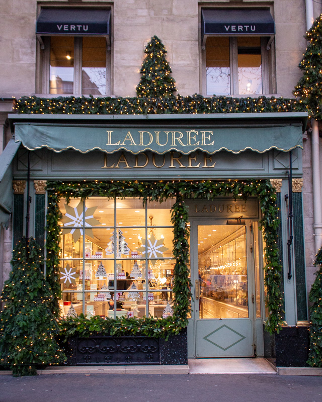 Ladurée Royale- paris decorated for christmas- MY FRENCH COUNTRY HOME
