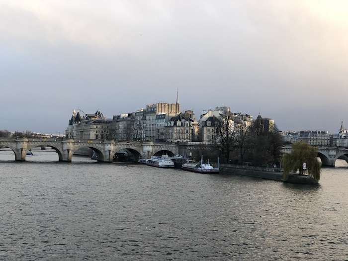 paris seen from le pont des arts