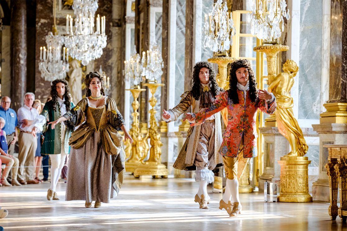 The Royale Serenade Dancers in the Versailles Hall of Mirrors