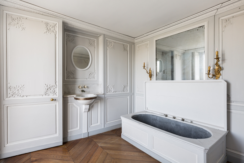 Bathroom in the private apartments at Chateau de Chantilly | Grand Opening of the newly Remodeled 19th century apartments | My French Country Home